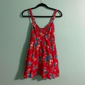 Hollister Floral Red Dress